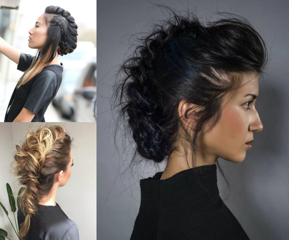 mohawk hairstyle with weave