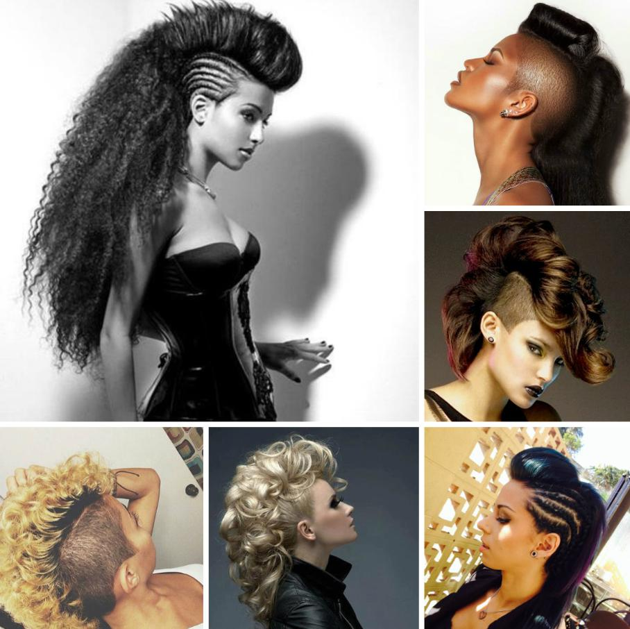 mohawk ponytail hairstyle