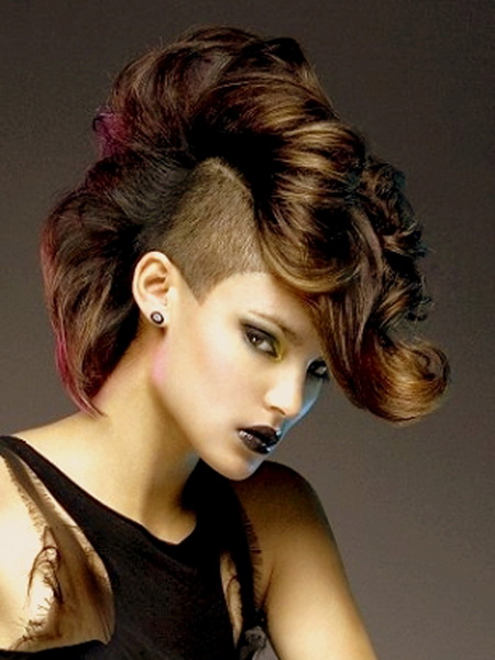 shaved mohawk hairstyles Mohawk hairstyles for women