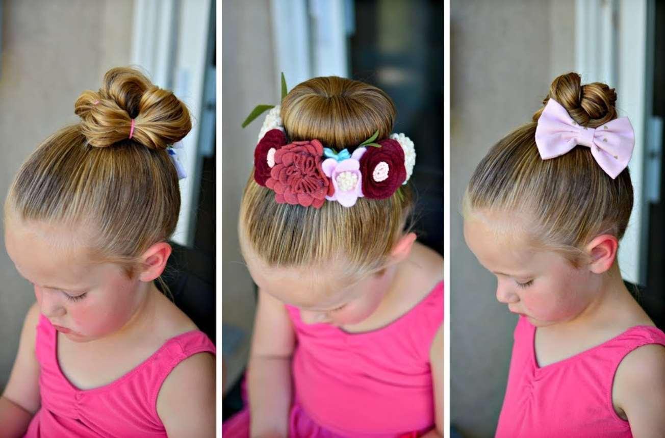 Bun Flower Girl Hairstyle