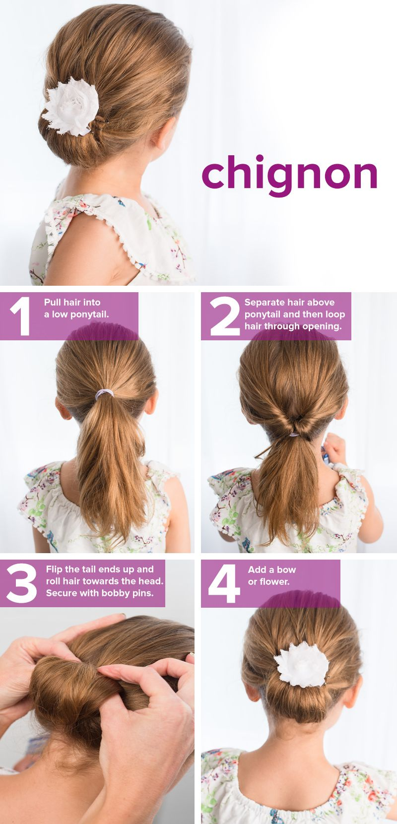 How to make easy flower girl hairstyles