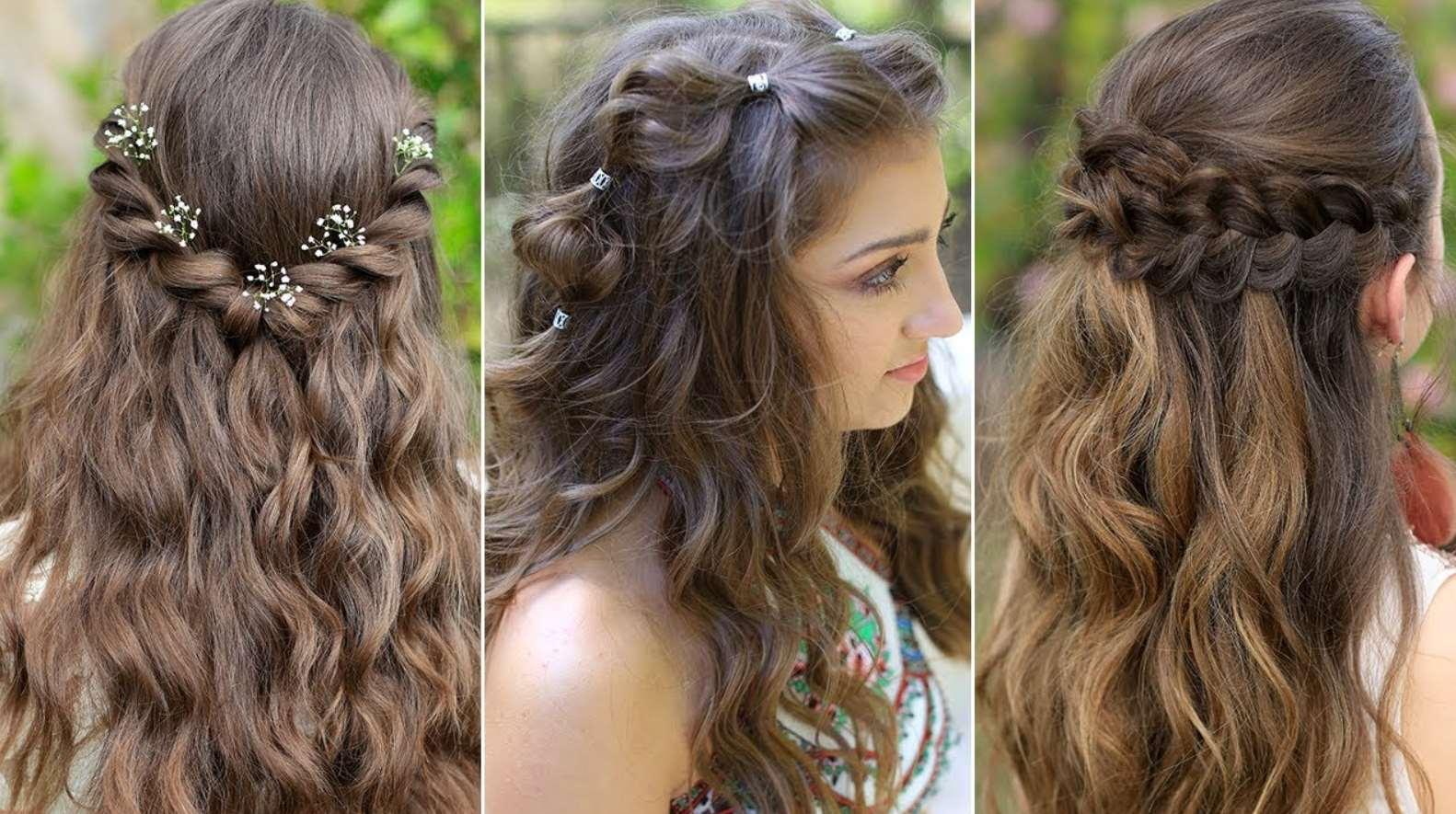 Princess Aurora Twistback with flowers
