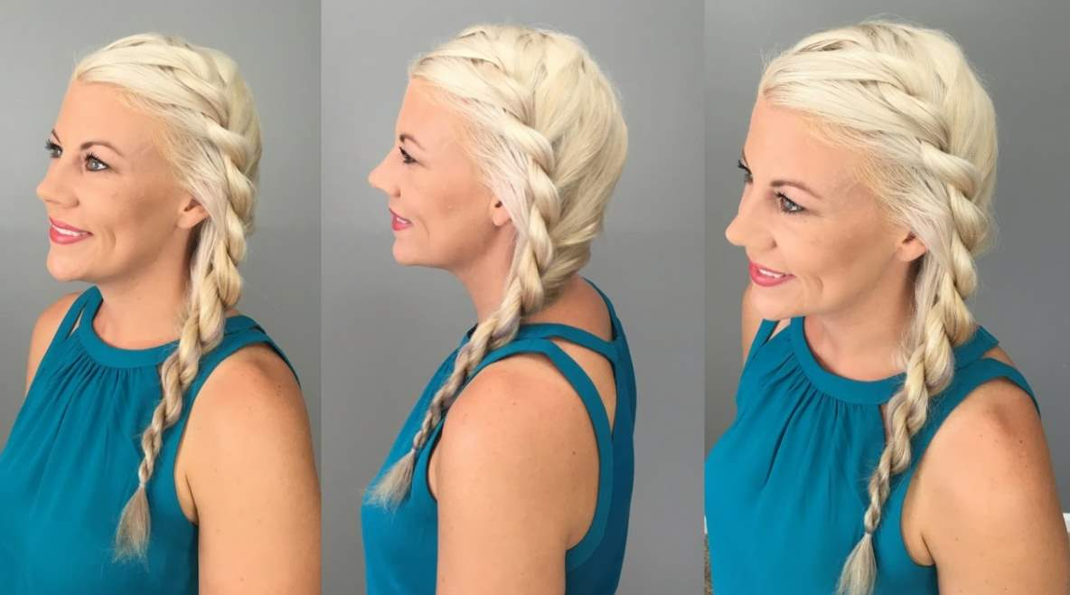 Rope Braid Twist Hairstyles