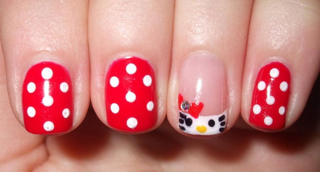 cute hello kitty nail designs 15 pretty Hello Kitty nail designs