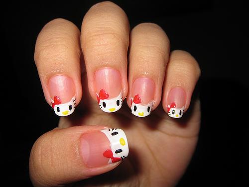 easy hello kitty nail designs