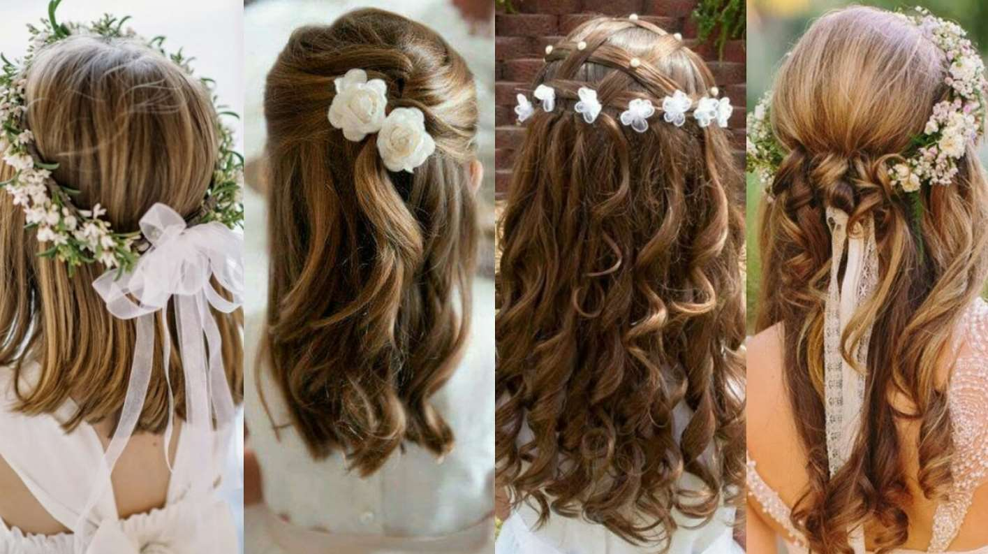 flower girl hairstyles for curly hair