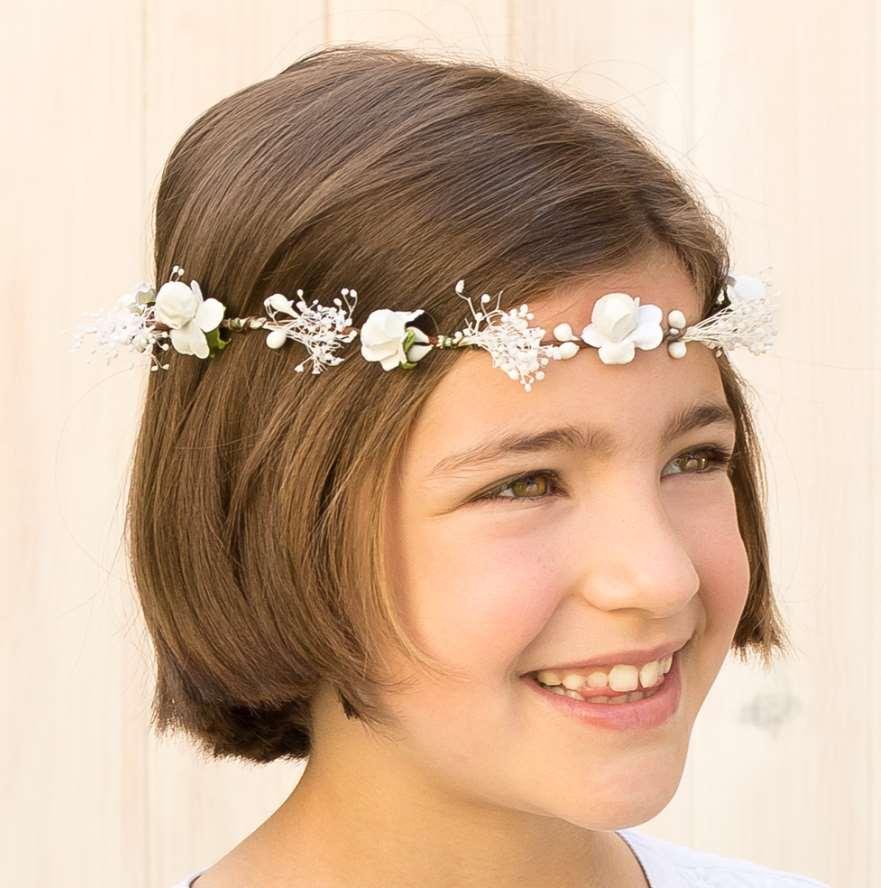 flower girl hairstyles for short hair