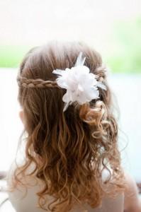 flower girl updo hairstyles