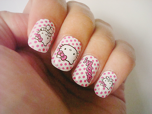15 pretty hello kitty nail designs yve style prinsesfo Gallery