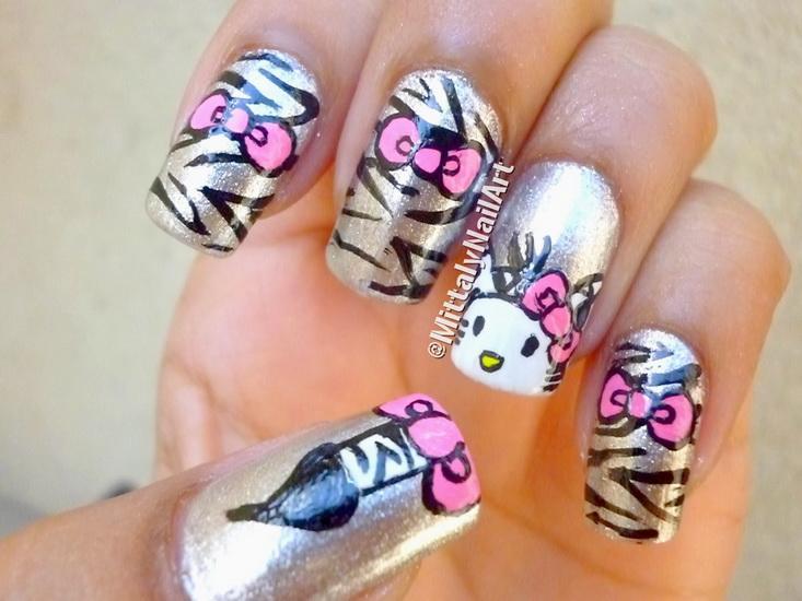 hello kitty nail polish 15 pretty Hello Kitty nail designs