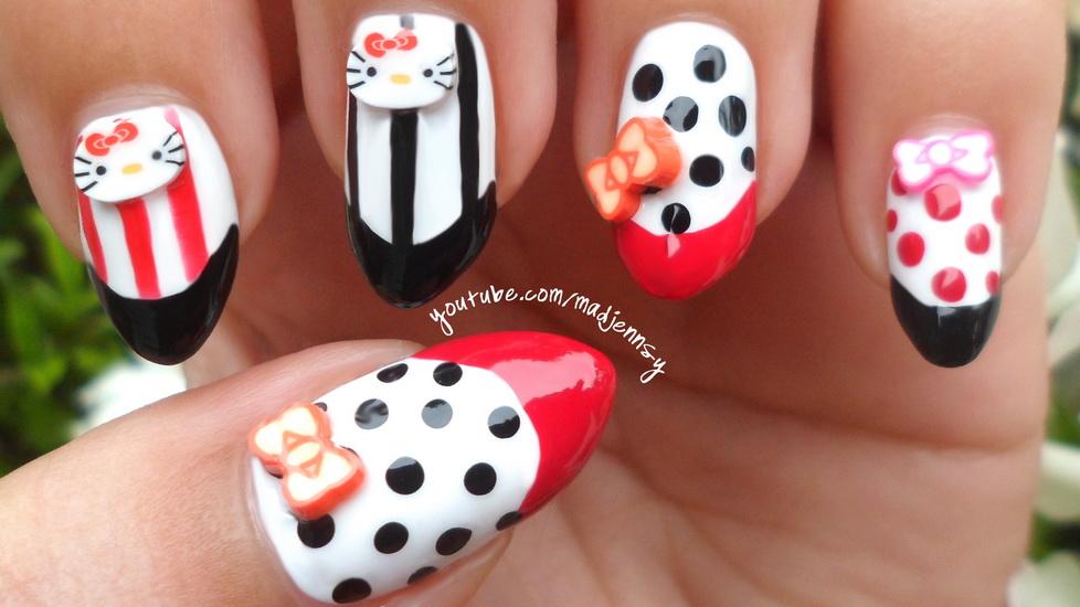 hello kitty nail stickers 15 pretty Hello Kitty nail designs