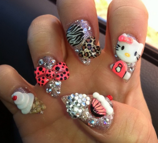 Hello Kitty Nails Design Yve Style Yve Style