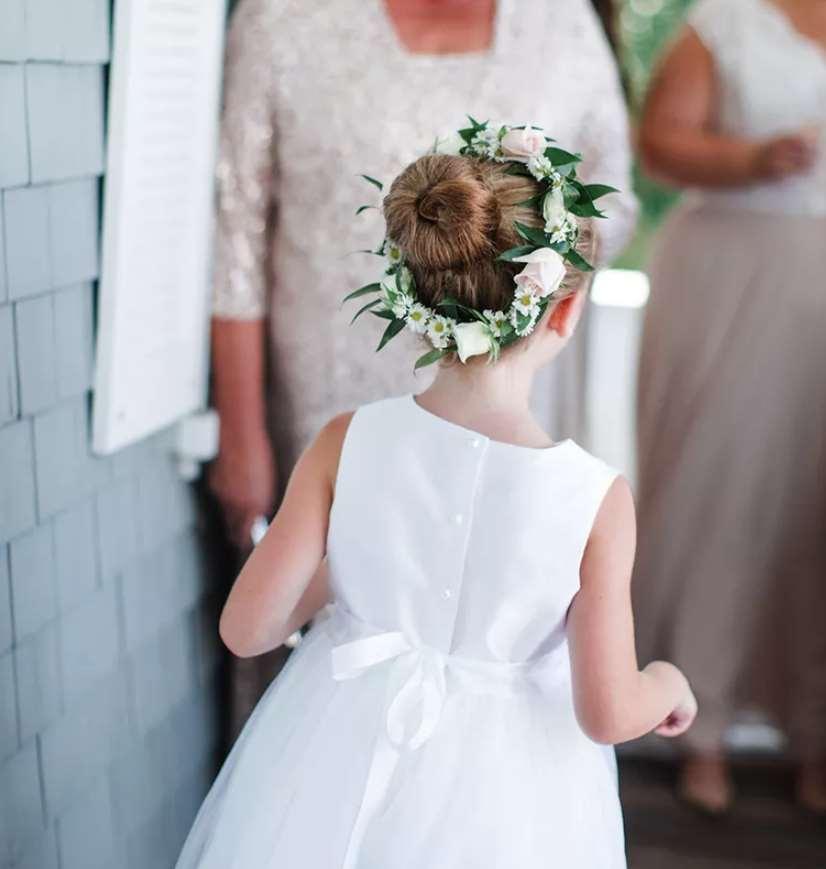 little girl Ballerina Bun flower