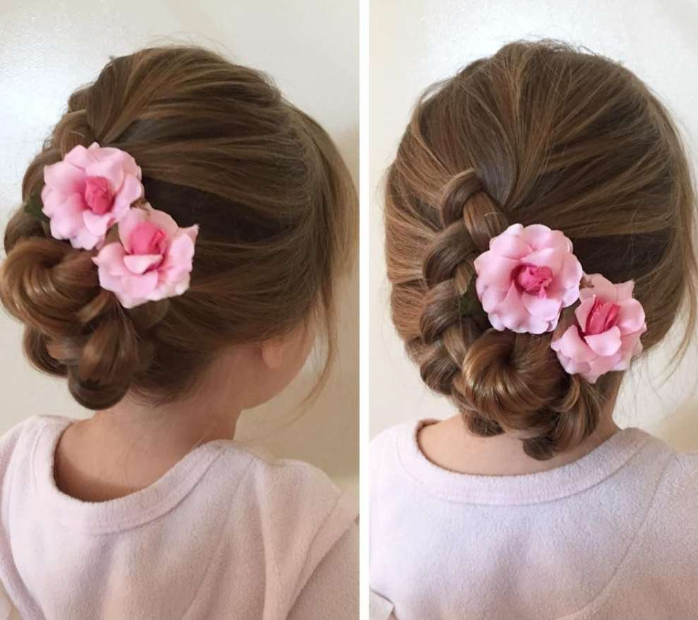 little girl Flower bun