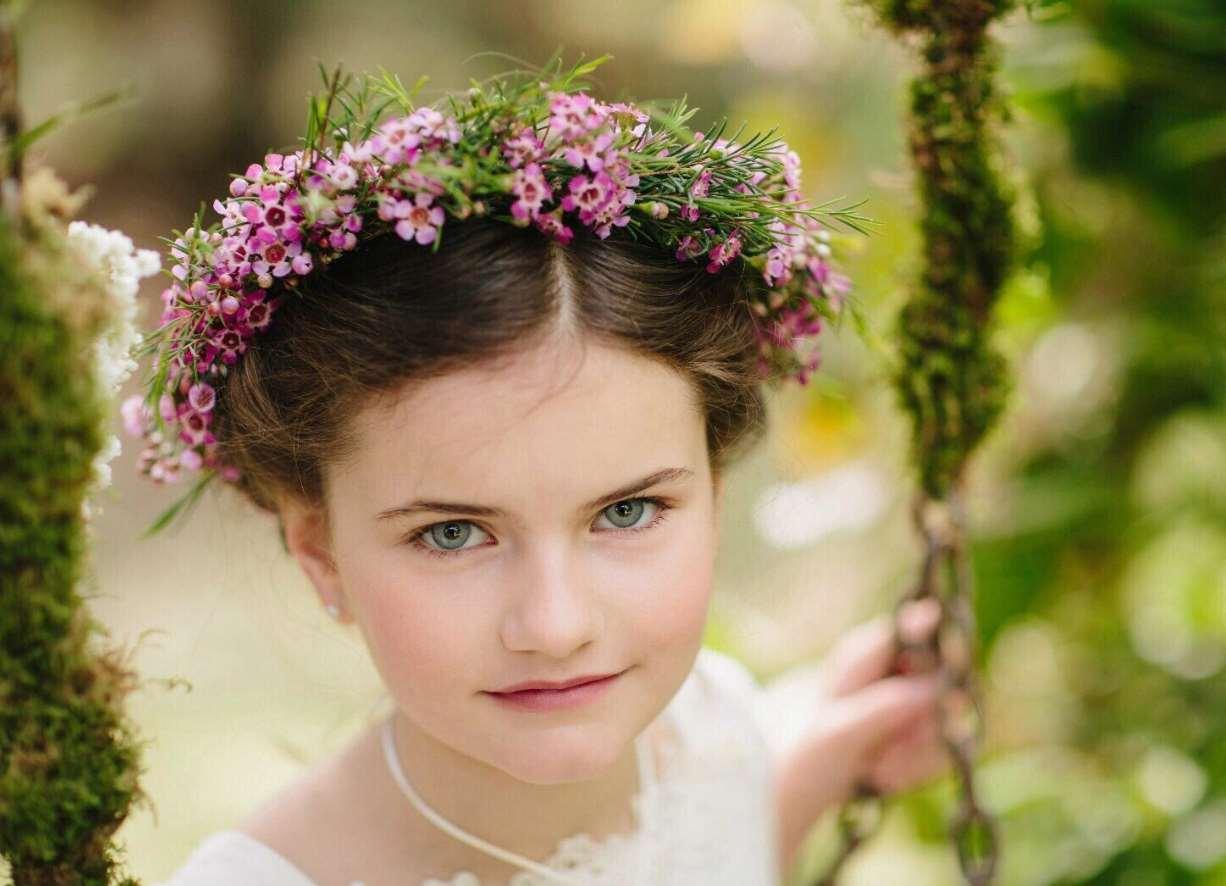 little girl flower girl hairstyles