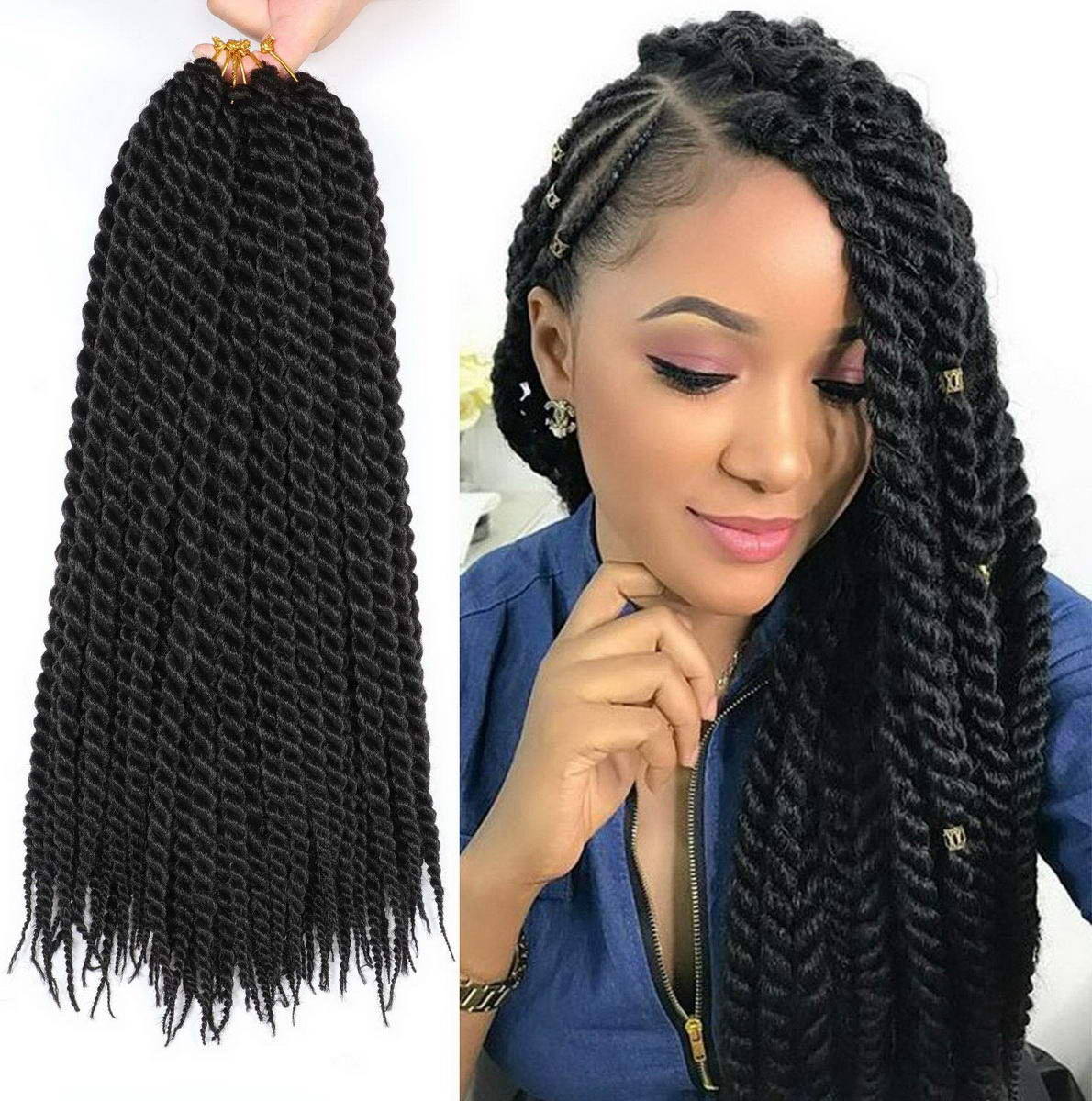twist hairstyles with extensions