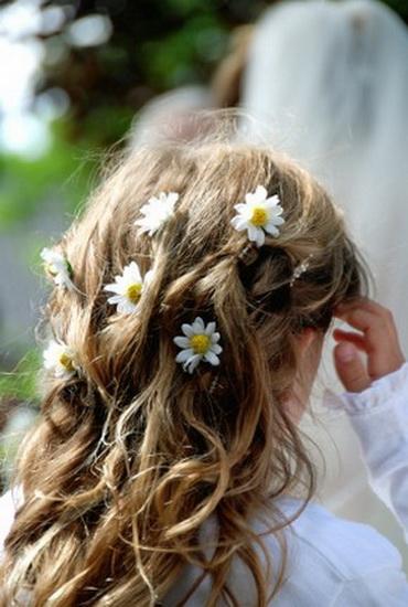 white flower girl dresses 15 Adorable Flower girl hairstyles