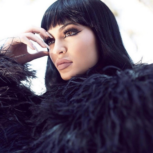 Kylie Jenner black bangs