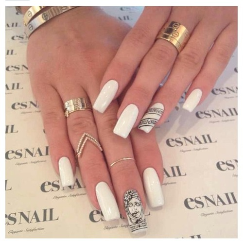 Kylie Jenner white nails