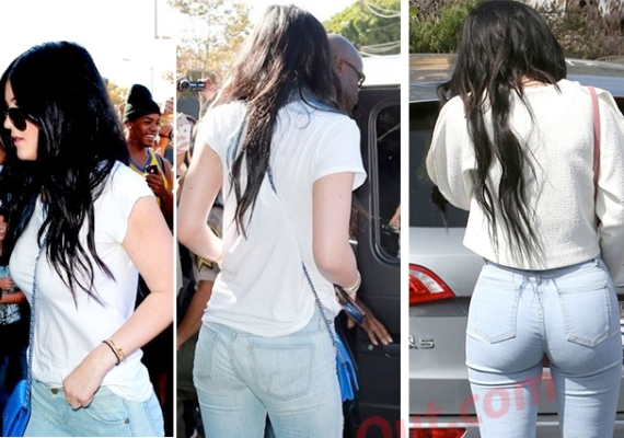 Kylie Jenner`s butt before and after