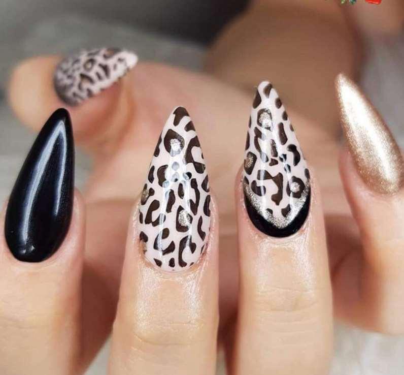 animal print stiletto nail designs