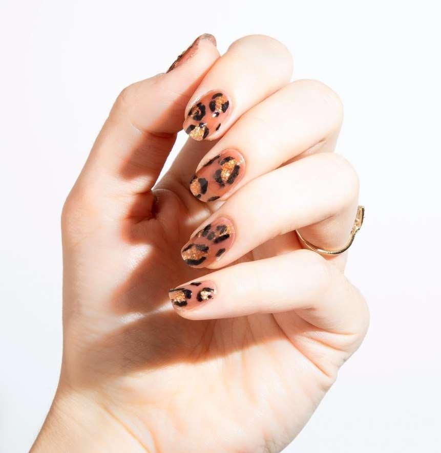 cheetah nails, zebra nail designs