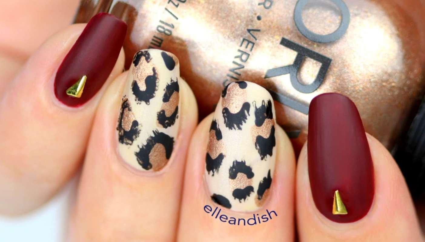 cheetah print nail designs