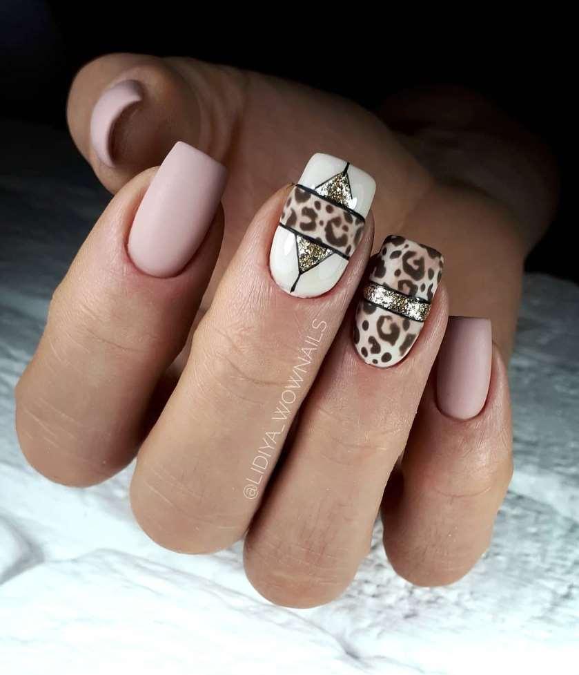 cool animal print nail designs
