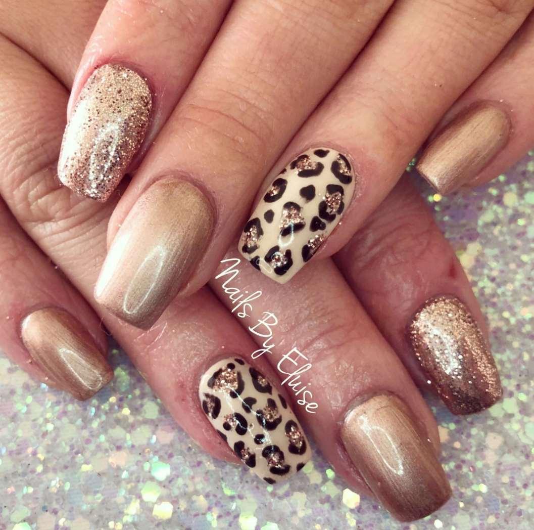 cute animal print nail designs