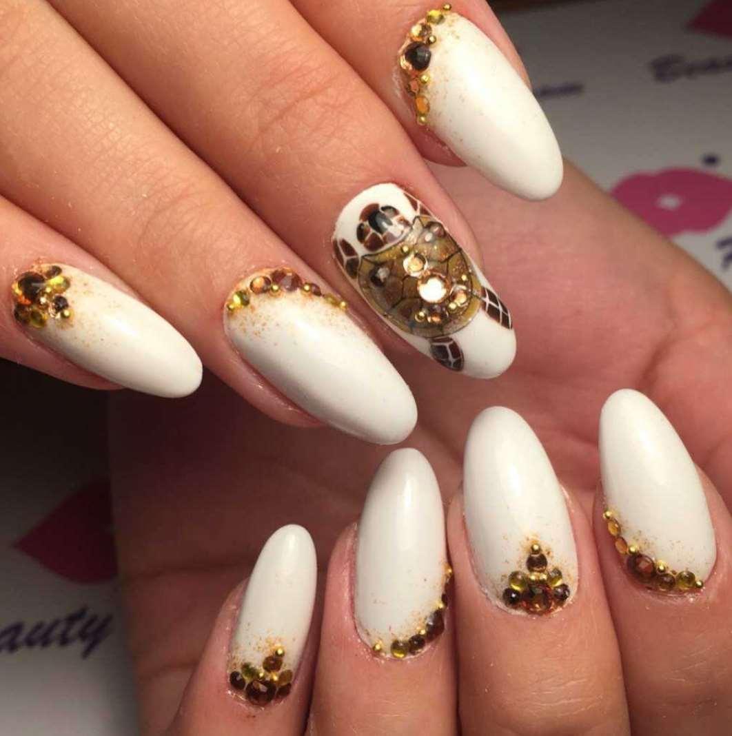 cute nail designs animal print