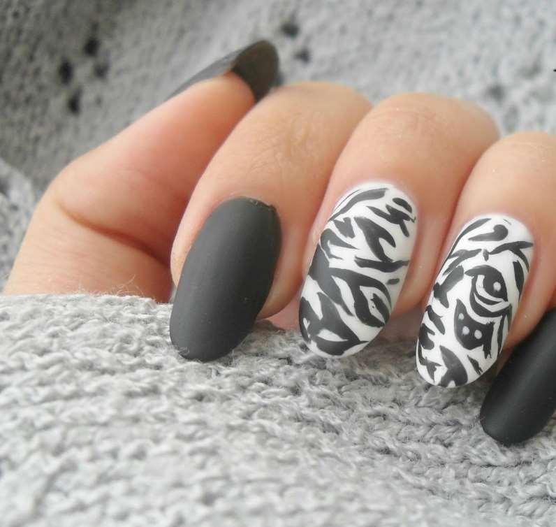 easy animal print nail designs