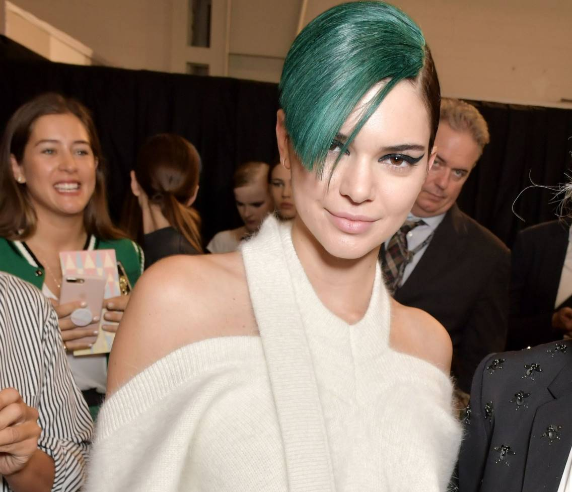 kendall jenner green hair