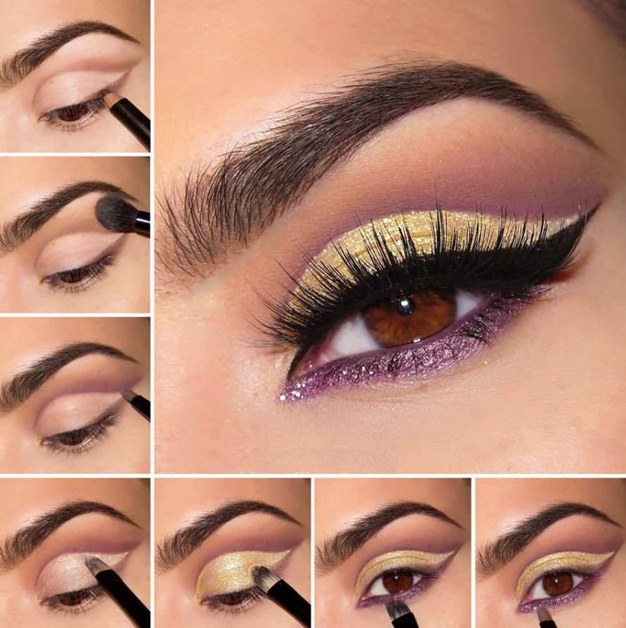 Gold Makeup for blue eyes