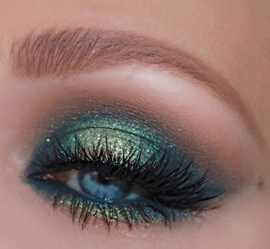 Green Eye Shadow for Blue Eyes