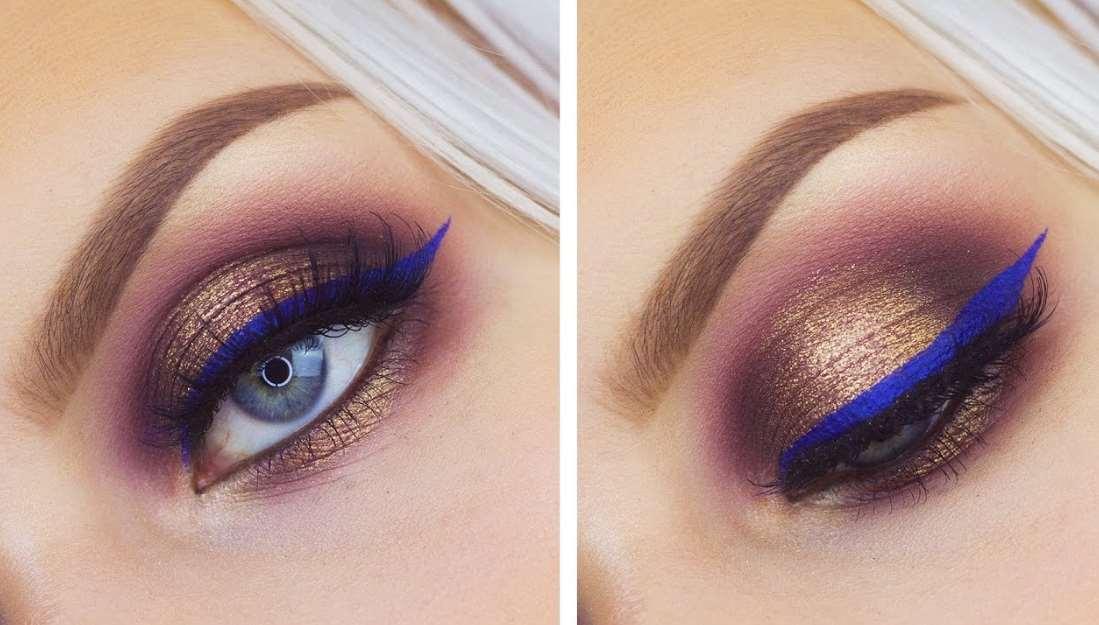 makeup for dark blue eyes