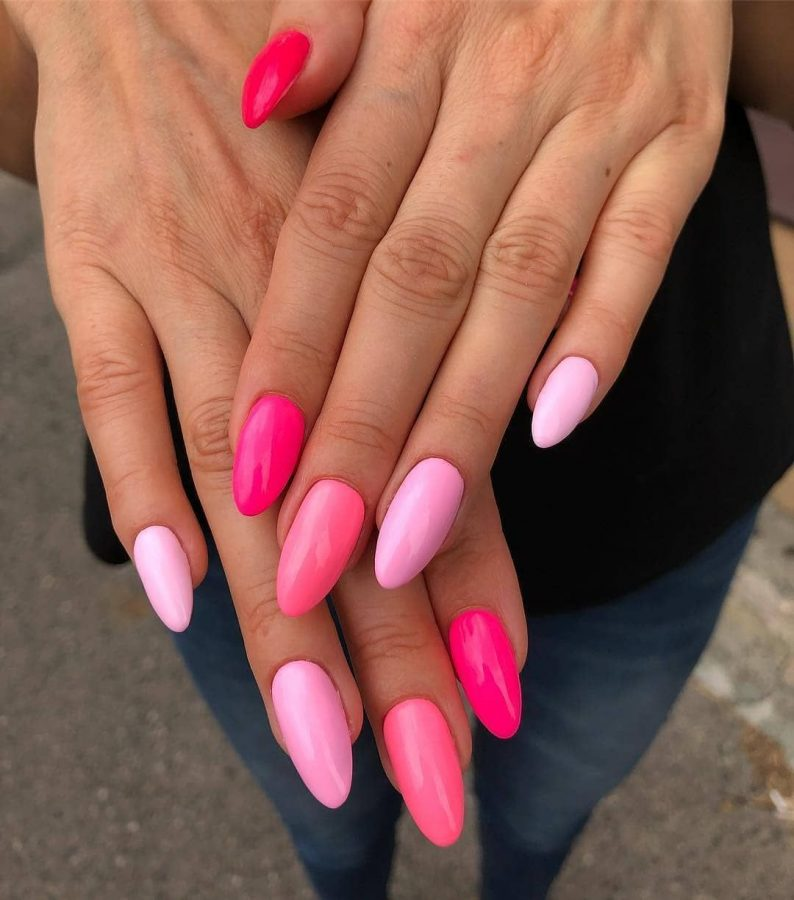 pink summer nails design