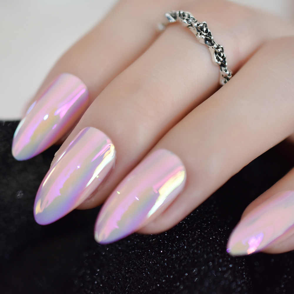 Oval stiletto nails