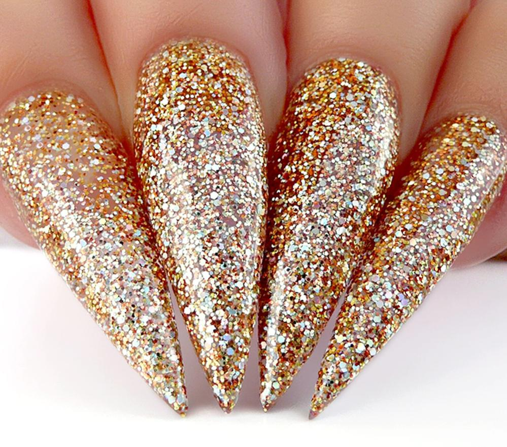 gold stiletto nails