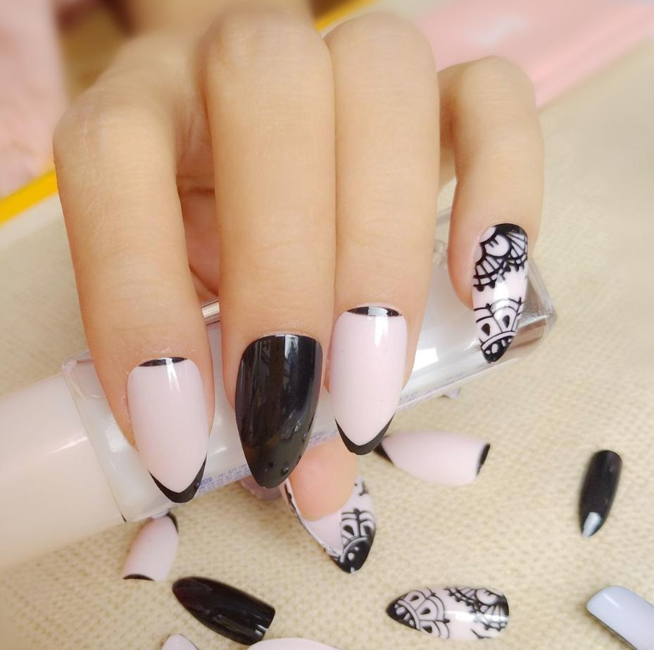 rounded stiletto nails