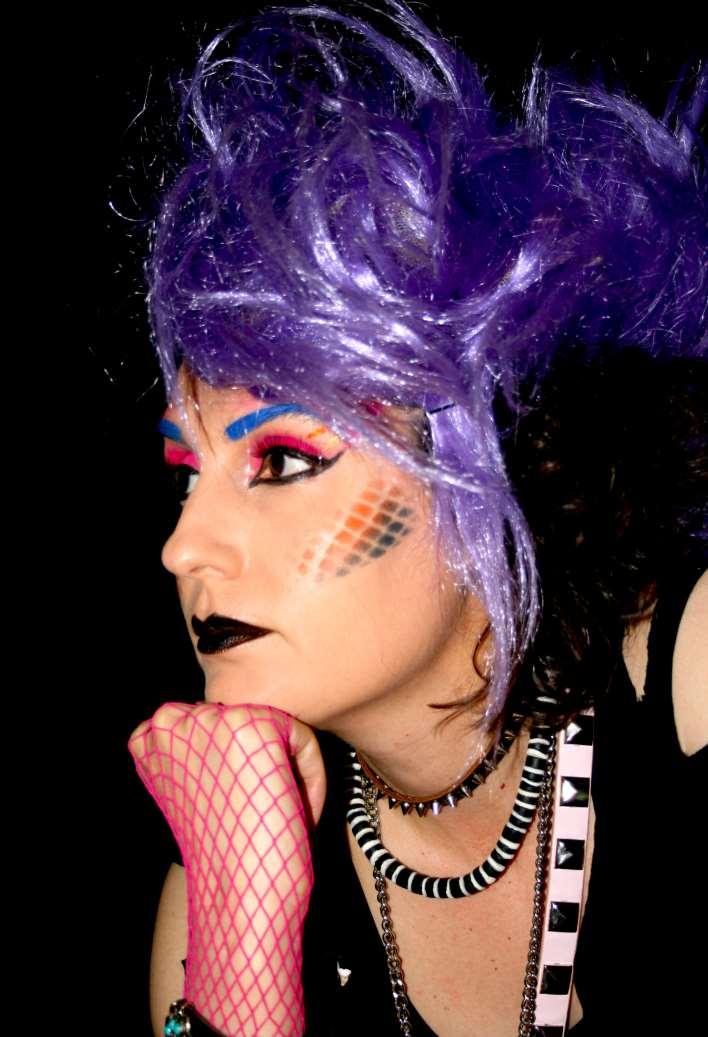 80s punk makeup