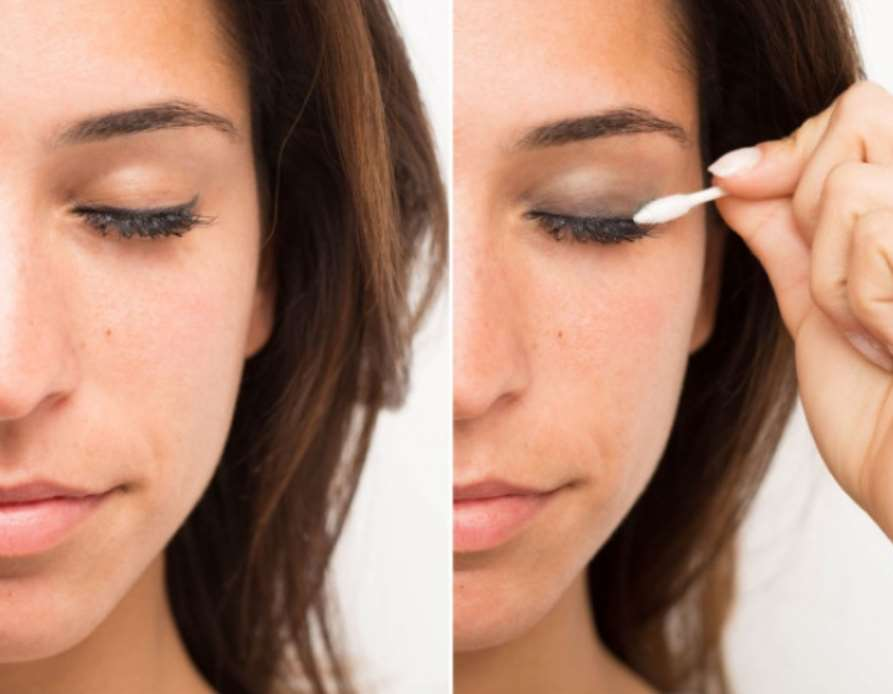 A Q-tip transforms day-to-day make-up right into a night look