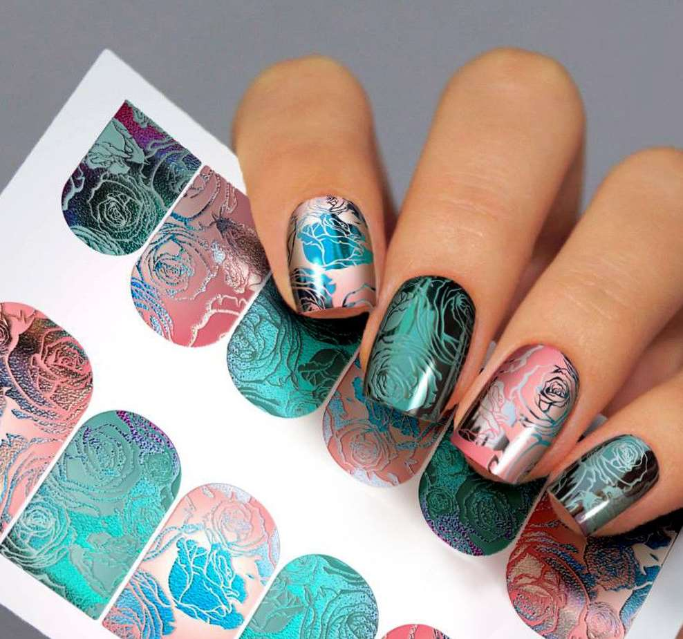 Abstract short nails