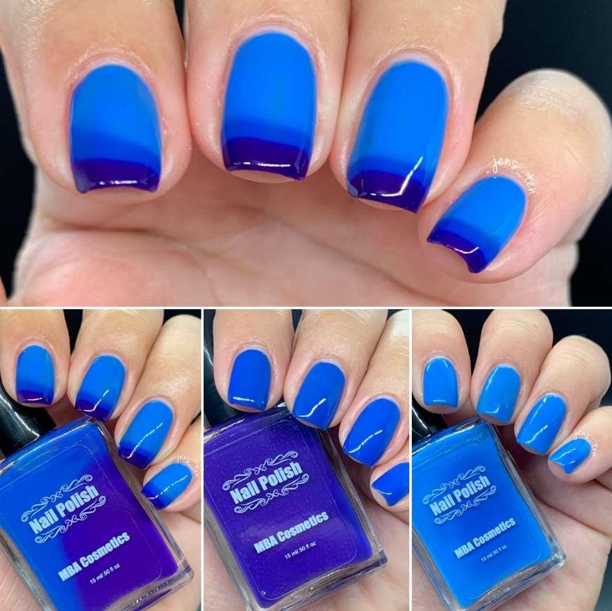 Blue Art nails