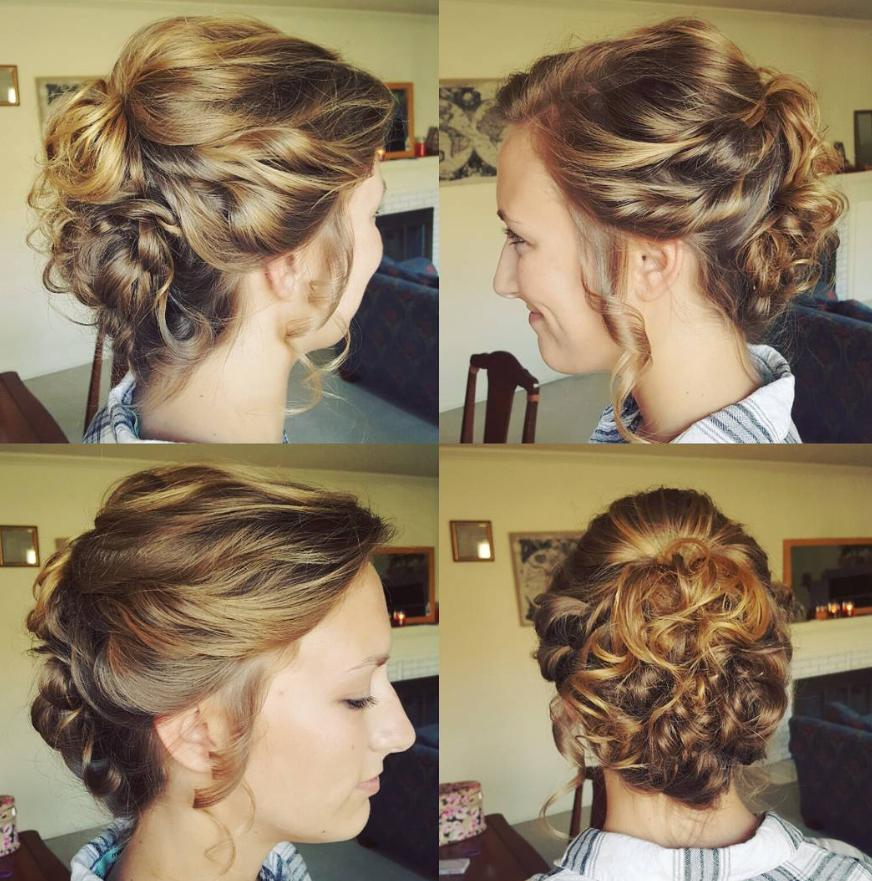 Curly Hair Pulled Back