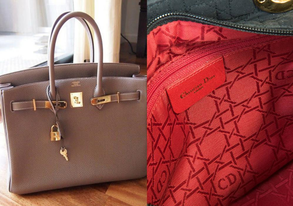 Distinct characteristics on real handbags