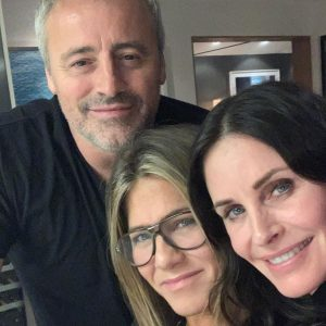Jennifer Aniston, Courteney Cox and Matt LeBlanc