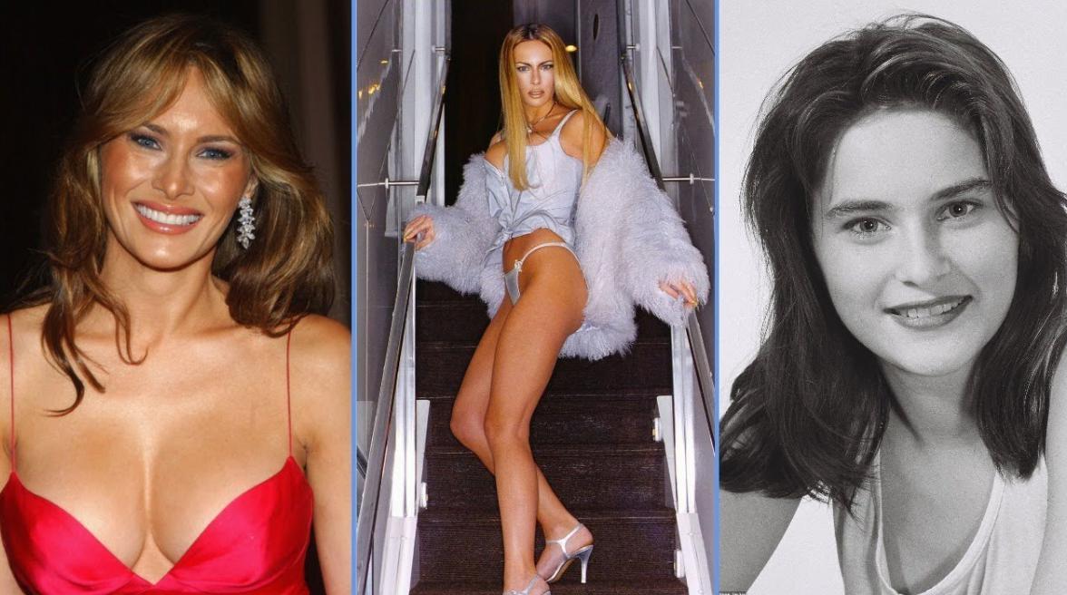Melania Trump young Model