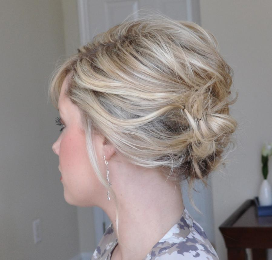 Pinned-Back Short Hair Updo
