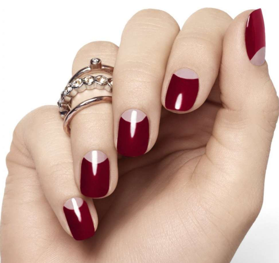 Royal burgundy nails