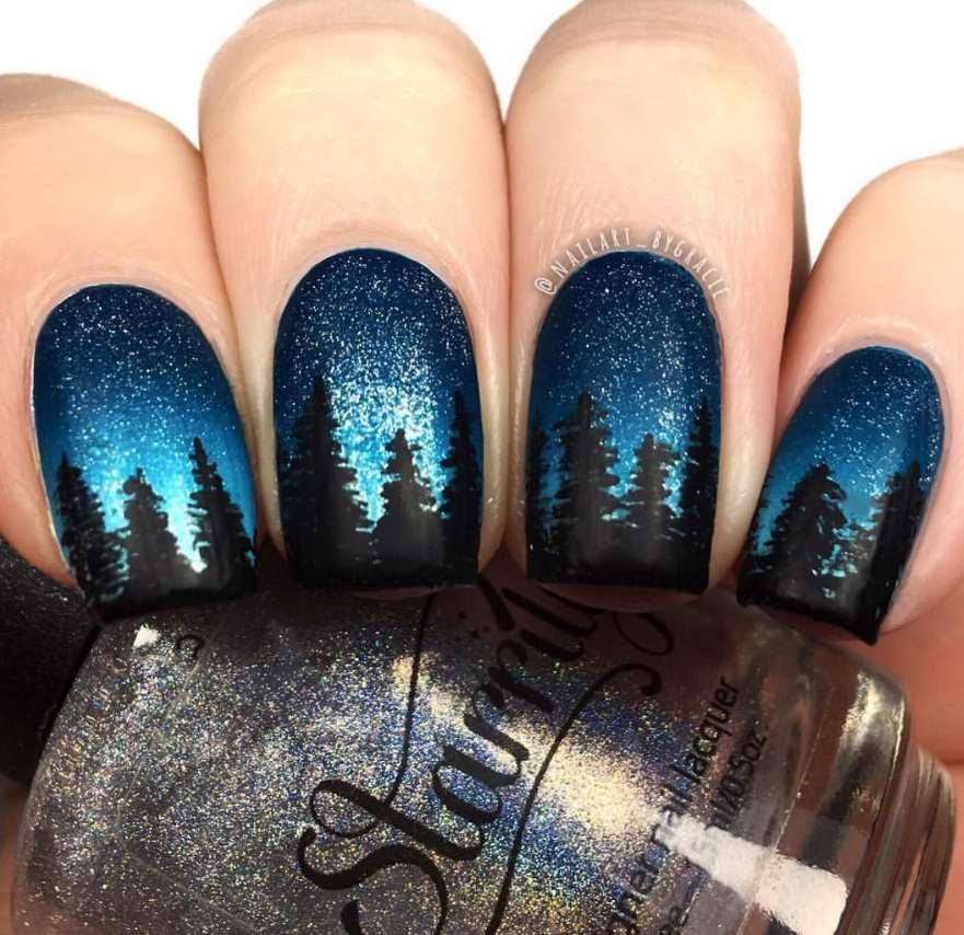 Sky nails design